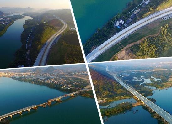 航拍:三柳高速 通向贫困地区的致富路