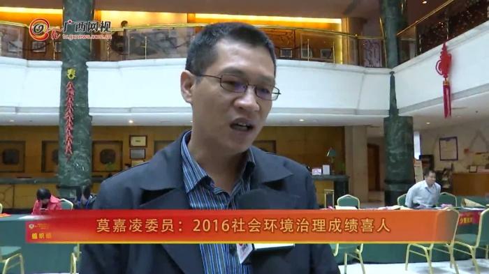 莫嘉凌委员:2016社会环境治理成绩喜人