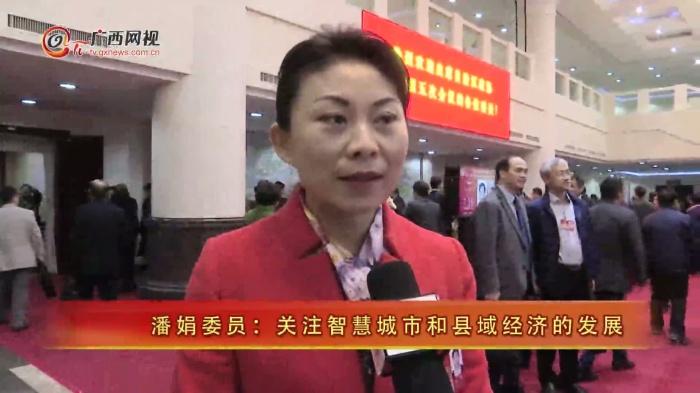 潘娟委员:关注智慧城市和县域经济的发展