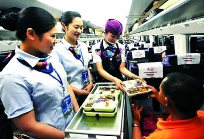 高铁动车网上订餐将推出 南宁东站成试点