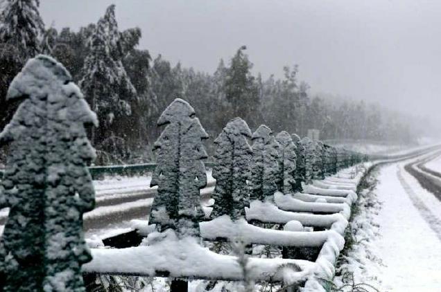"""夏天结束没多久 中国的""""北极""""就下雪了"""