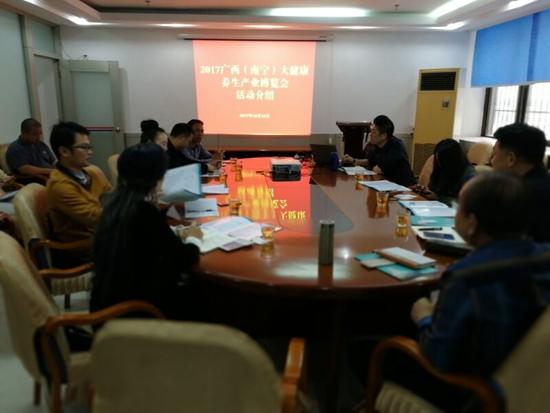 东盟经贸促进会与各行业协会代表共话健博会