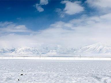 青海雪后初霁 景色美如画