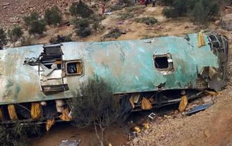 秘鲁:客车翻下山路35人丧生