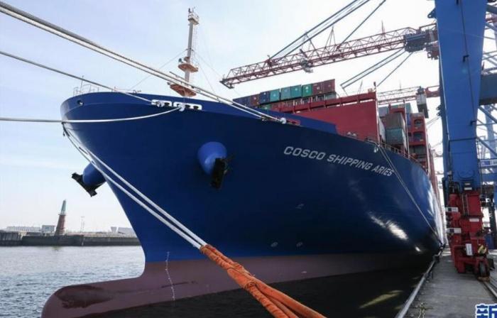 中远海运两万标箱级货轮
