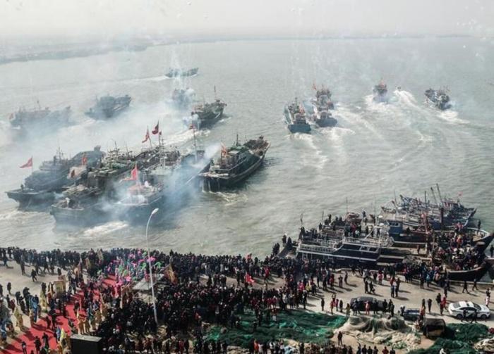 辽宁盘锦举办二界沟开海节