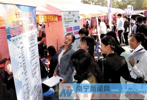 广西2019届高校毕业生双选会举行 提供岗位超1.5万个
