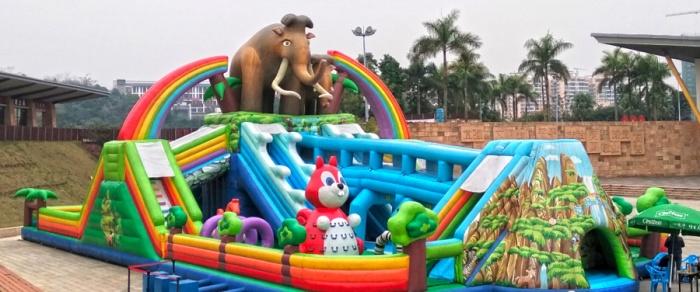 南宁李宁体育园七大佩奇主题项目免费玩 还有奖金