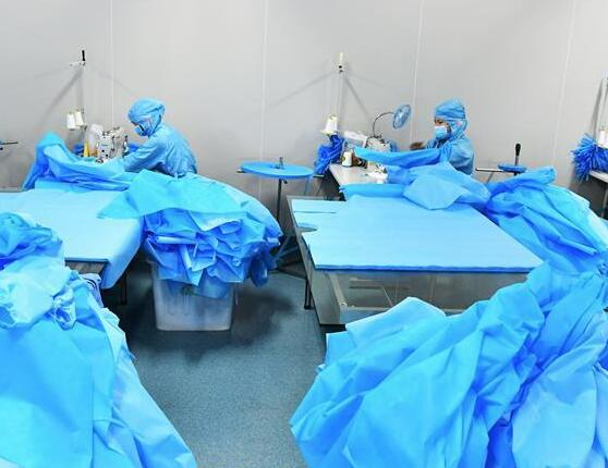 医用防护品 生产不停歇