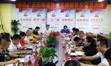 广西强化体育行业党建工作 跆协党支部获批成立