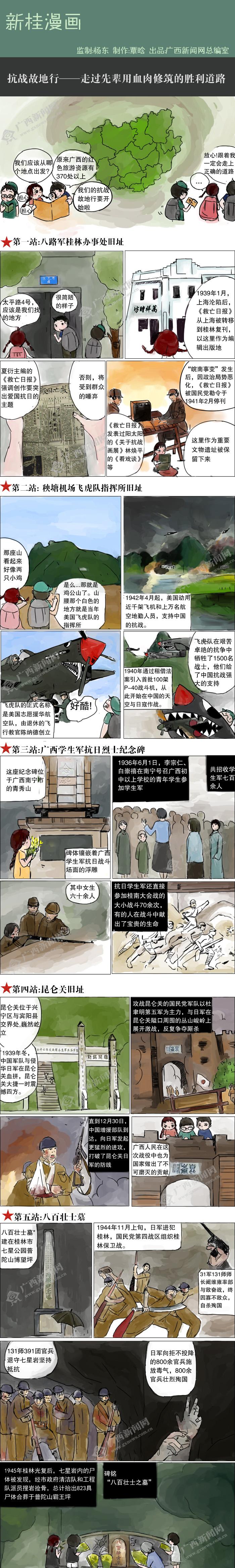 [新桂漫画]抗战故地行――走过先辈用血肉修筑的胜利道路