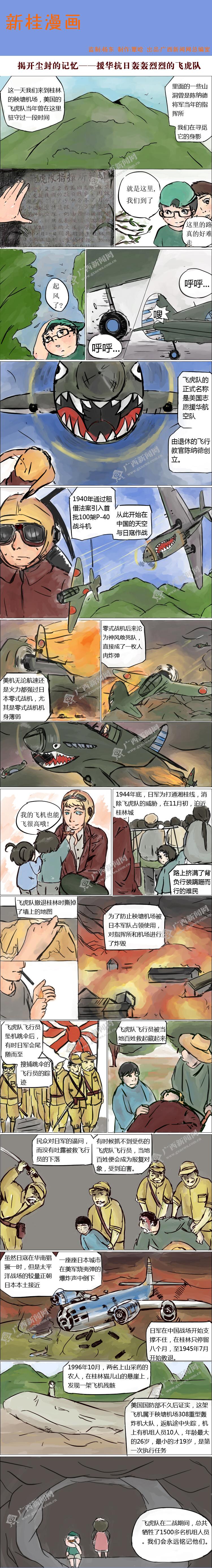 [新桂漫画]揭开尘封的记忆──援华抗日轰轰烈烈的飞虎队