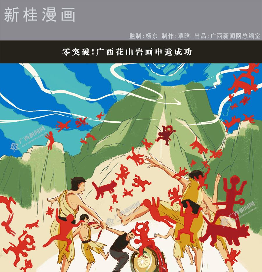 [新桂漫画]零v漫画!广西花山岩画申遗a漫画快少年漫画图片