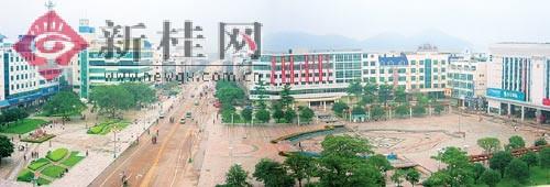近年来,鹿寨县高起点高规格进行城市建设,县城面貌焕然一新.刘克林摄