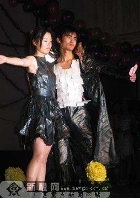 另类服饰大开眼 大学生环保时装秀显独特魅力