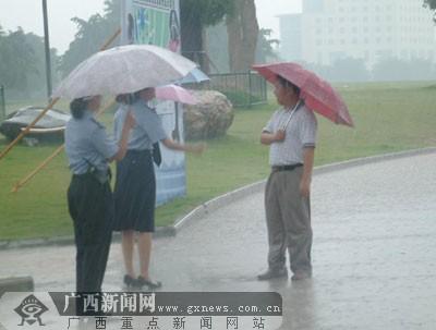 雨中小孩和动物老照片