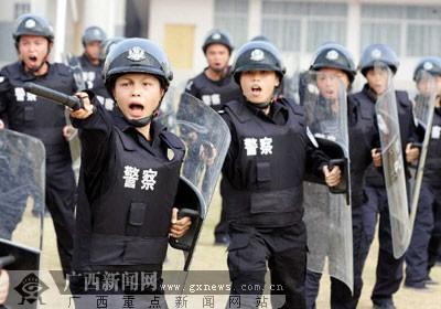 南宁监狱警察进行大练兵