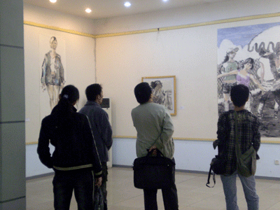 广西艺术学院举办课堂绘画作品