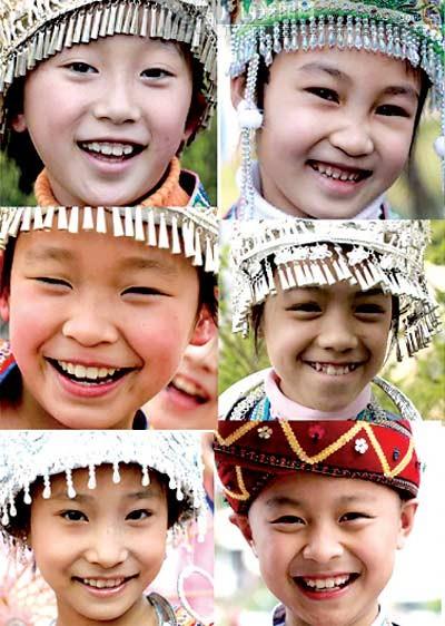 可爱小朋友笑脸图片