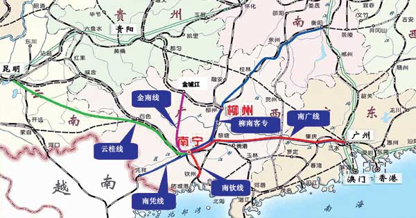 坐火车到北京上海只需8小时   敖云碧介绍,南宁市在广西的中心