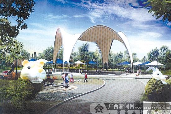 新建的新秀公园儿童游乐园欢乐剧场效果图.
