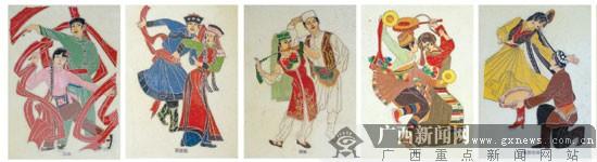 全州青年两年制56民族铜丝手工画献礼祖国60华诞; 历时两年制作