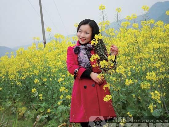 融安县大良镇村民试种油菜地 如今成为农家乐景点
