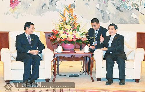 郭声琨会见柬埔寨国务兼商业大臣占蒲拉西