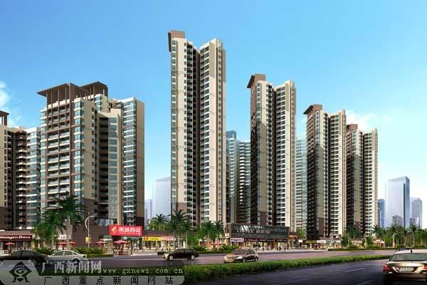 主力户型现代高层住宅 高清图片