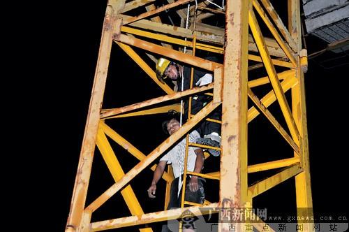 广西平头塔吊图片