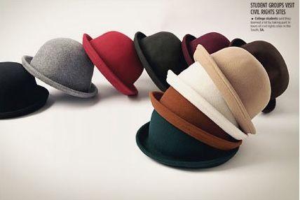 时尚英伦毛呢圆顶礼帽