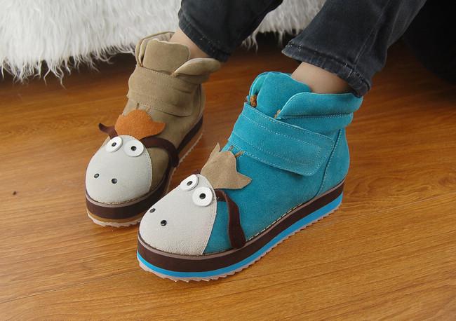木讷驴厚底马丁靴