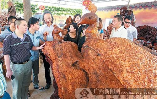 广西最大根雕市场