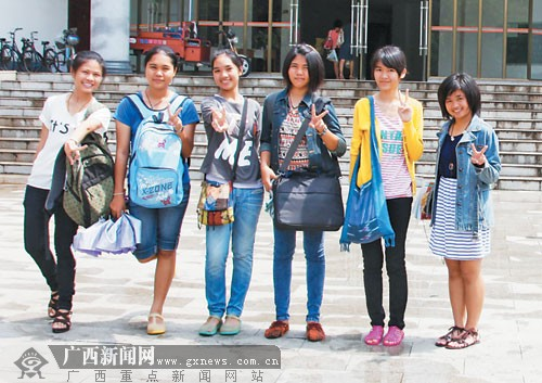 今年6名泰国高中到南宁读大学还想在中国读高中学生评语家长寒假图片