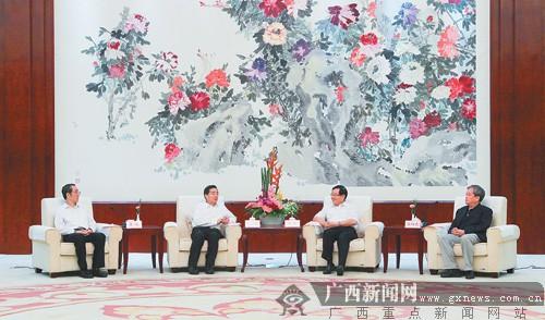 郭声琨马飚陈际瓦拜会全国政协副主席万钢