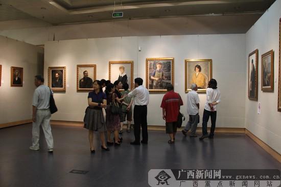 中俄美术作品展开幕 民建中央画院广西分院挂牌
