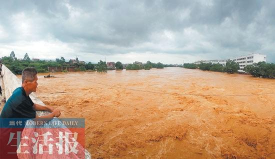 桂平金田水庫下游3個鄉鎮遭受洪