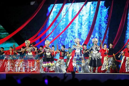 """""""大地飞歌·2013""""第15届南宁国际民歌艺术节开幕"""