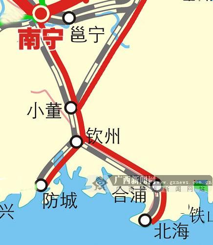 盘点广西高铁线路之 广西沿海城际铁路图片