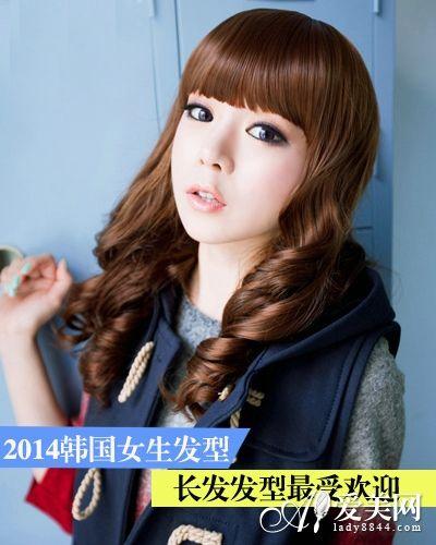 2014年韩国发型女生长发最受欢迎得会慢女生图片