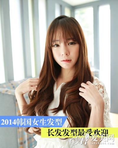 2014年韩国女生女生发型最受欢迎-广西新闻网长发堆糖头像网图片