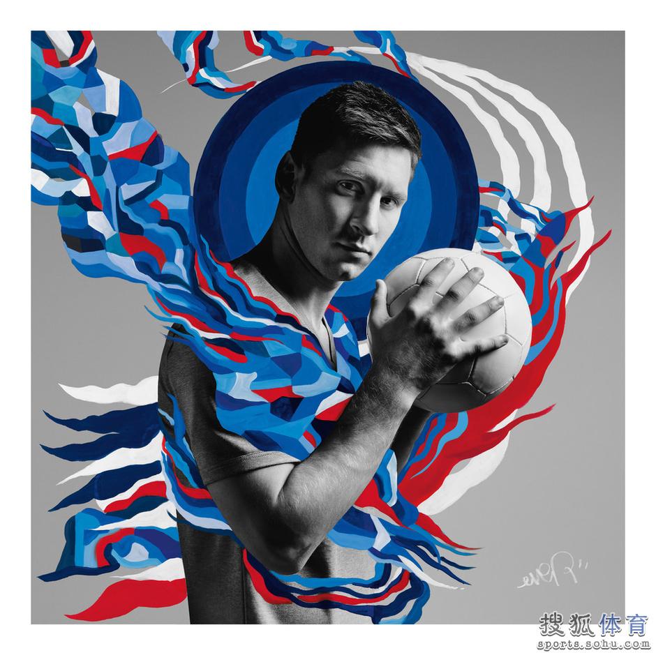 世界杯最新海报 梅西kun神霸气十足