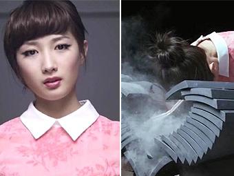 日本空手道美女以头碎瓦震惊网友