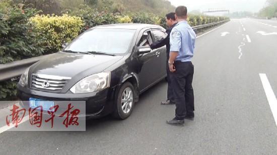 司机错过匝道口逆行两公里 幸好高速交警及时发现