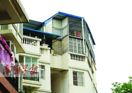 一层四户楼房结构图