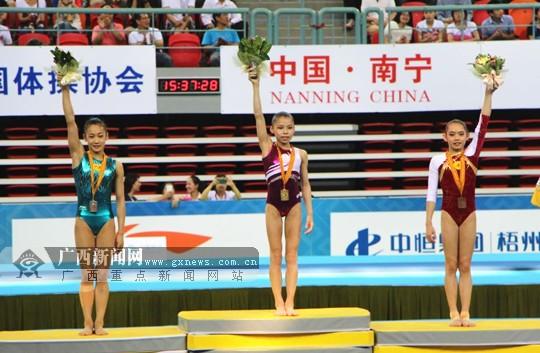 全锦赛女子平衡木湖南队夺冠 广西队获得亚军(图)