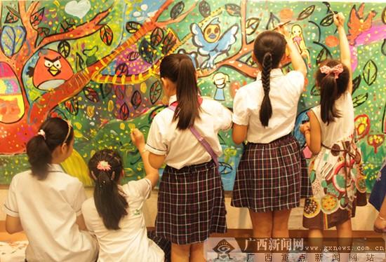 """—广西第五届""""八桂画童""""美术,书法,摄影大赛优秀作品展在广西图片"""