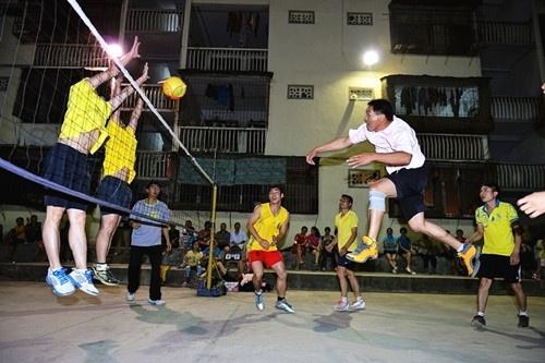 乐业县气排球协会开展气排球下乡活动