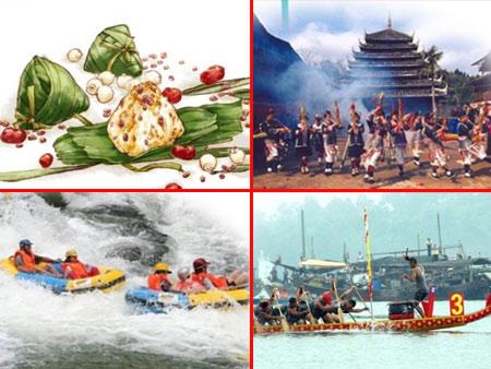 高清:端午节,我们吃粽子,划龙舟,去漂流!