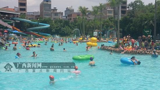 六一儿童节九曲湾水上乐园接待大人小孩5000多人